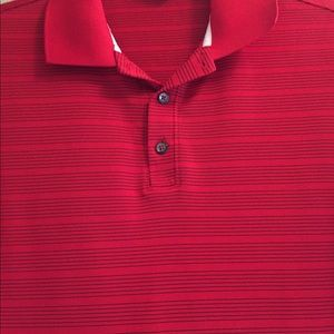 Nike Golf Dri Fit Polo Men's large red stripe